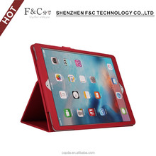 Fast selling on amazon stand folio leather flip cover for i pad pro cases