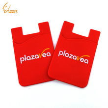 Hot custom easy carry smart silicone cell phone sticker card holder