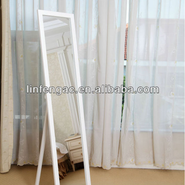 Bedroom furniture standing mirror white jewelry armoire cheval mirror 36cm*150cm
