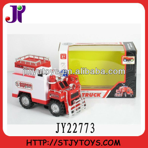 Battery operated plastic model toy fire truck toys