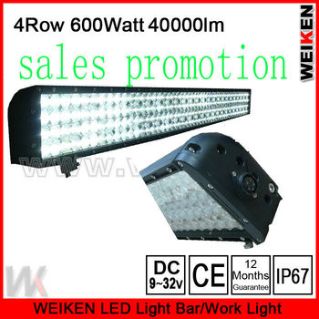 3w Four Rows Led Bar Lights,52 inch Led Light Bar Offroad Light Bar,600w Led Light Bar