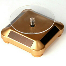 Solar Powered Rotating Rotary Display Stand Turntable VR Glasses Jewelry Watch Display