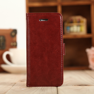 universal smart phone wallet style leather case for iPhone 5 fine sheep lines printing leather material