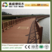 Top quality Outside solid & hollow balcony anti-uv wpc decking/waterproof and fireproof wpc board
