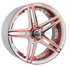17inch alloy wheels with red line