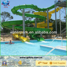 Large fiberglass swimming pool/water park slide for sale