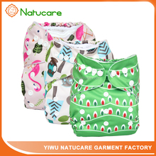 Natucare Baby Nappy Cover Adjustable Baby Cloth Diapers Printed Color Reusable Washable Diaper for 0-3Years
