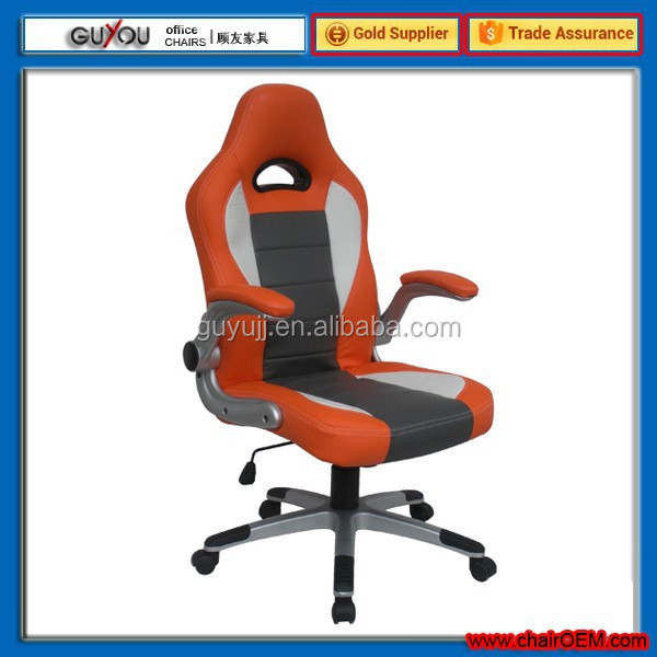 Y 2838 Office chair RACING Swivel chair, gas lift Metal aluminium colour base