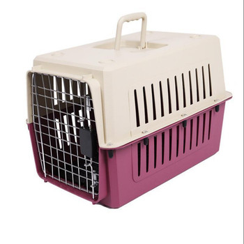 20In super sturdy small cat dog travel portable plastic crate pet carrier box