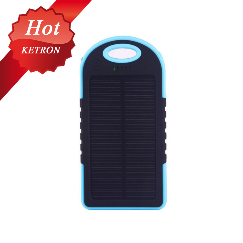 waterproof low price 5000mah solar mobile phone charger