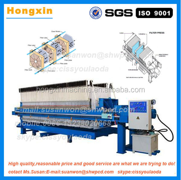 Industrial automatic hydraulic chamber filter press