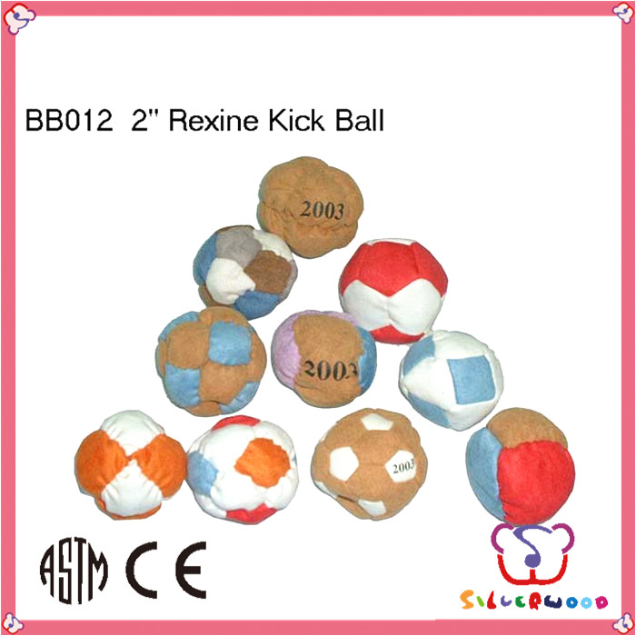 ICTI Factory promotional pvc leather customize hacky sack fabric