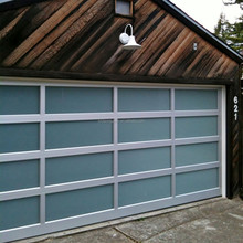 Modern aluminum full view glass garage doors