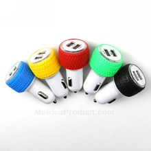 Car Dual USB Charger - Smart Fuse Circuit-Breaker Protected Dual USB Port 5V 2.1A/3.1A Car Charger
