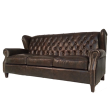 Sofa furniture luxury vintage leather chesterfield sofa
