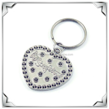 Rotating in the middle heart shape key chain