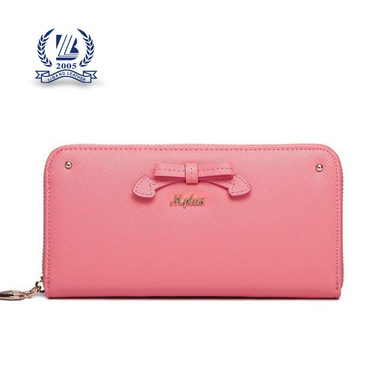 2016 high quality zipper long lady wallet woman clutch zipper purse