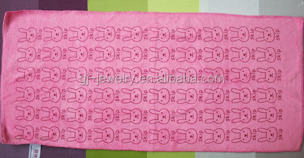 China supplier Up set Water absorption Rabbit printing Microfiber towel