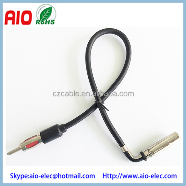 GPS TV Antenna Adapter connector GM Female jack port to Standard male factory plug Din male Automotive Accessory Antenna A.I