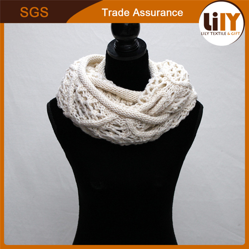 Latest design pure color knitted weave neckerchief factory china neck scarf fashionable scarf