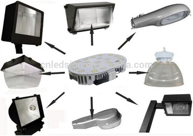 Top quality ETL listed 150w LED retrofit kit to replace Aluminium housing led street lighting