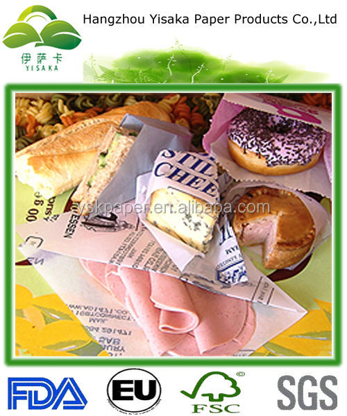 eco-friendly waxed paper for wrapping food