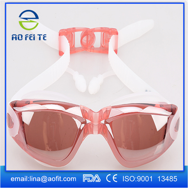 OEM Fashion Swimming Anti fog Glasses Funny Swimming Goggles with earplug