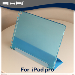 "PU Leather Magnetic Front Smart Cover For iPad Pro 12.9 "" with Crystal Hard Back Case Shell For iPad pro 12.9inch"
