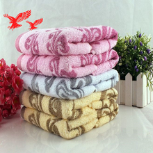 china supply 350gsm 100% cotton yarn died bath towel