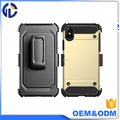 Hybrid Armor Hard Shell Cover Holster Belt Clip Shockproof Combo Case For Iphone X
