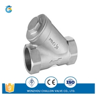 Y type screw check valve for wholesale