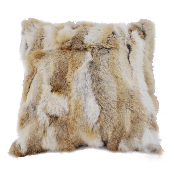 Natural Broan Grey Color Double Fur Orylag Rex Rabbit