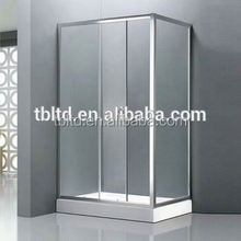 Offset quadrant glass shower enclosure with round shower door parts
