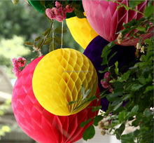 Handmade Ball shape paper honeycomb for wedding decoration