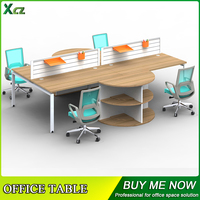 Top Selling wooden 4 seater office desk /open office workstation/classic office desk design
