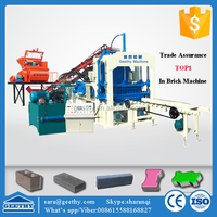 QT4-15C hydraulic industry hollow block machinery ,forms for concrete products paving stone