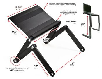 Funtion Protable Laptop Stand, Portable Folding Laptop Tray