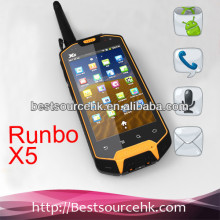 IP67 Runbo X5 IP67 MTK6577 waterproof shockproof rugged phone with GPS,WIFI, FM walkie talkie