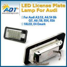 2x for Audi LED License Plate Light A3 S3 A4 B6 B7 A6 S6 Q7