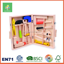 Pretend play game wooden super tool kit set toys for boys kids