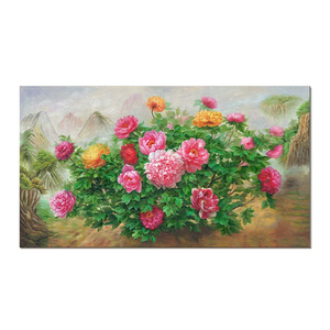 Home Decor Classical Flowers Picture Canvas Prints Peony Art Painting