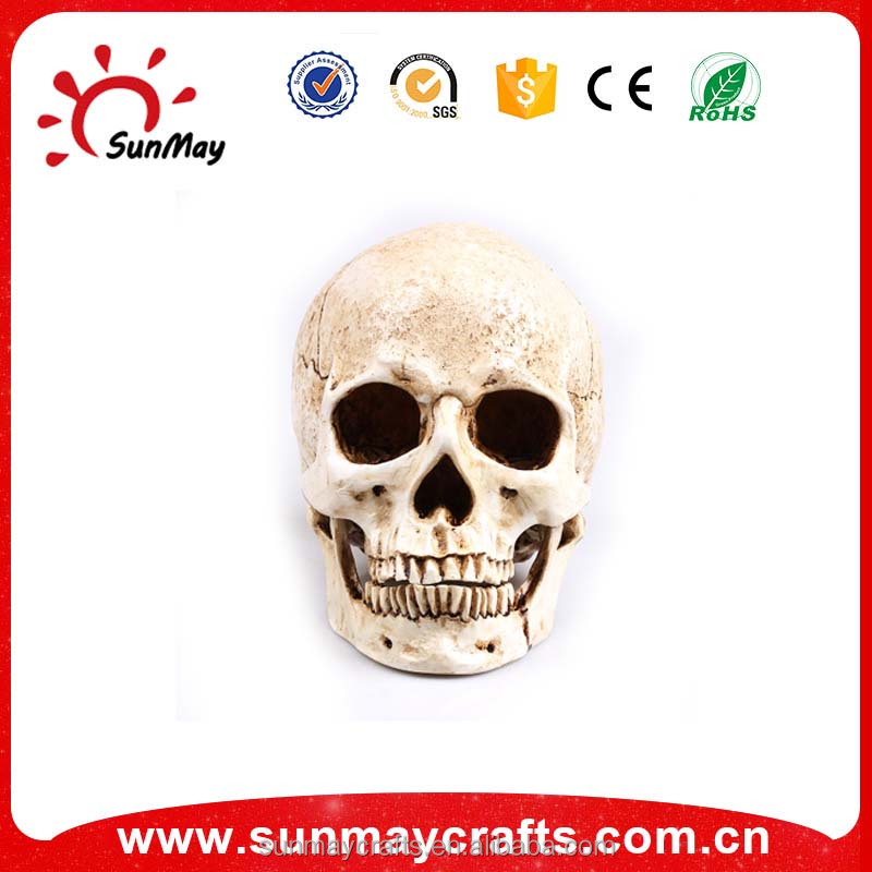 Custom high quality hand carved resin skull for crafts