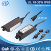 IP68 24W 12V 2A DC waterproof outdoor power supply