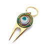 hot sale unique zinc alloy golf divot tool keychain