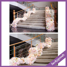 LFB695 light champagne S shape wedding stair flower for sale