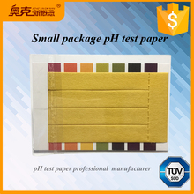 Customized 4 pieces 8 pieces water ph test strips