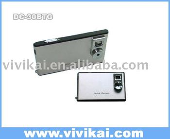 Promotion gift Mini Slim Card Digital Camera with li-ion battery(DC-30btg)