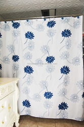 2016 elegant flower design shower curtain