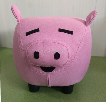 Animal like Fabric Ottoman -PIG-