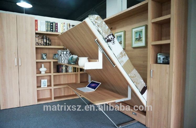 Transformable Wall BedsFoldable Beds With DeskFolding Beds